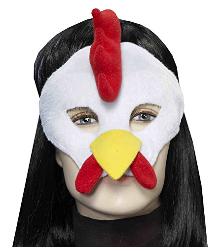 Forum Novelties Men's Plush Rooster Mask, Multi, One Size (Adult Rooster Costume)