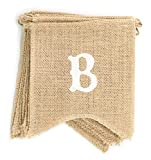 : dealzEpic - Baby Shower - Rustic Burlap Banners Baby Shower Party Decoration Props - Swallowtail Shaped Banners