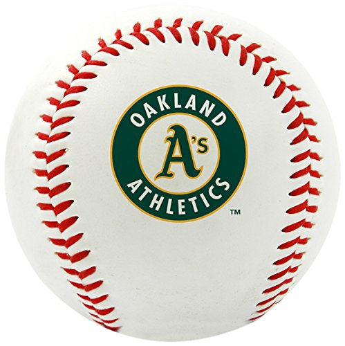 Rawlings MLB Oakland Athletics Team Logo Baseball, Official, White