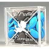 Boite pour Dragées PARRAIN - Ange - Baptême & Communion