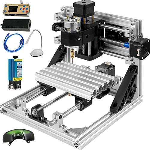 Mophorn CNC Machine 1610 GRBL Control Wood Engraving Machine 3 Axis CNC Router with 500mw Laser Engraver Offline Controller Milling Machine for Wood PVCs PCBs