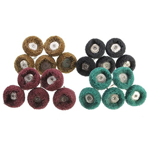 Letbo New 40pcs 25mm Wheel Grinding Buffing Polishing Wheels Set for Dremel