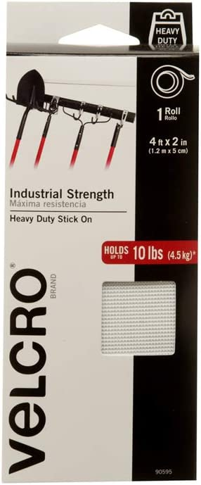 Velcro Brand Industrial Strength Indoor Outdoor Use Superior Holding Power On Smooth Surfaces Size 4ft X 2in Tape White Pack Of 1