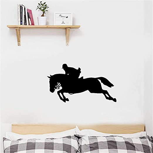 Custom Vinyl Graphic Window Horse Personalized Equestrian Jumping Decal B