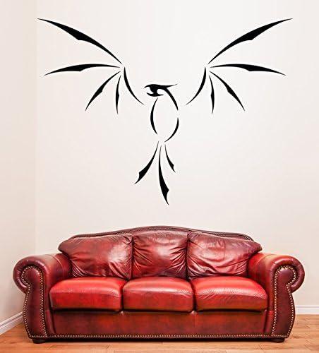 (100 x 73 cm) diseño de fénix de vinilo adhesivo decorativo para pared con alas abiertas/Fire lámina de decoración de Home diseño de pájaros de Vinilo/Lava Fenix de tela con diseño de dragón volcán DI