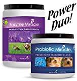 Digestive & Immune Power Duo – Enzymes + Probiotics for Dogs and Cats! Eliminate Diarrhea, Loose Stool, Yeast Issues, Poor Digestion, Excess Shedding, Constipation, Bad Breath, and Body Odor! For Sale
