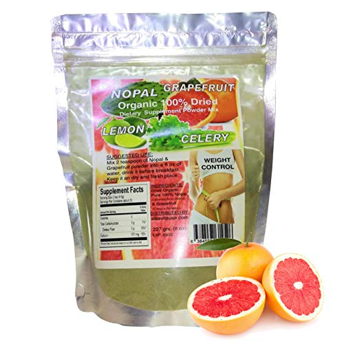 Grapefruit, Celery, Nopal & Lemon Weight Loss Organic Dried Fiber 100% Pure 1/2 Lb. Bag ALKAVITA
