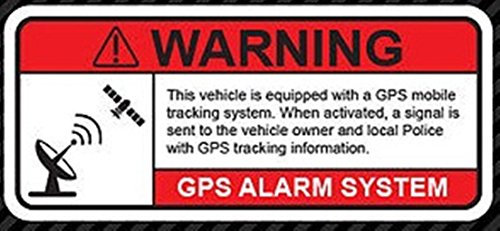 GrandSiri Anti Theft Vehicle Security Warning Alarm Stickers Signs Decal Adhesive GPS Vinyl