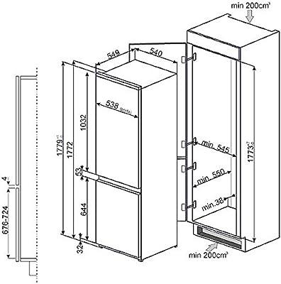 Smeg C3170PL Integrado A+ nevera y congelador - Frigorífico (SN-T ...