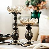 Lotus candlestick holders,European style Decoration Crystal Glass Ornament ornaments-C