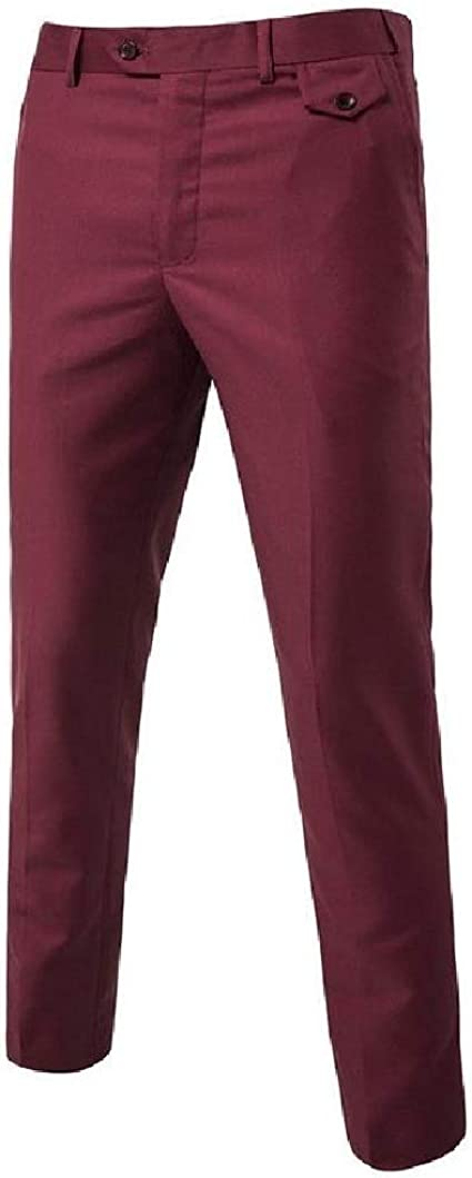 AngelSpace Mens Wrinkle-Resistant Classic-Fit No-Iron Pleated Casual Lounge Pants