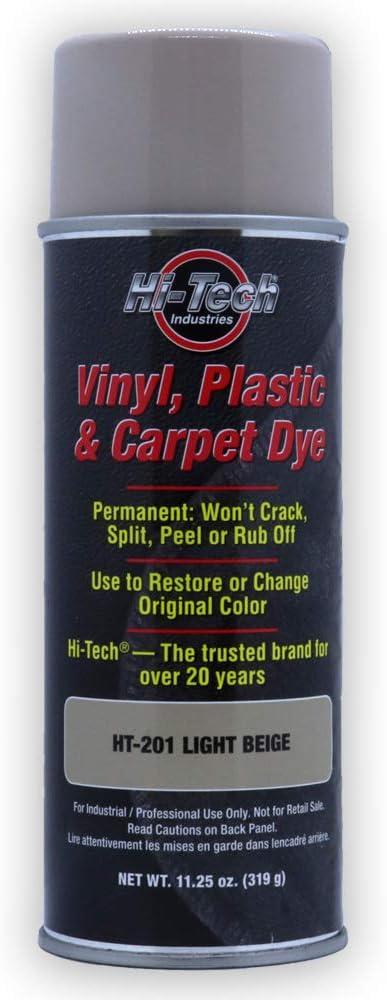 Hi-Tech Light Beige Vinyl Plastic & Carpet Aerosol Dye