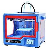 QIDI TECHNOLOGY 3D Printer, New Model: X-one2 (Red-Blue Version), Fully Metal Structure, 3.5 Inch Touchscreen