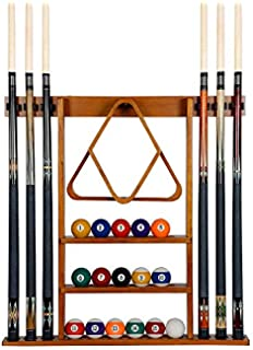 Frjjthchy Waterproof Cue Rack Wood Easy to Assemble Billiard Stick Rack for Home Office
