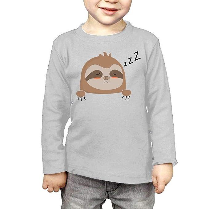 Fryhyu8 Baby Girls Kids Pocket Sloth Printed Long Sleeve 100/% Cotton Infants T-Shirts