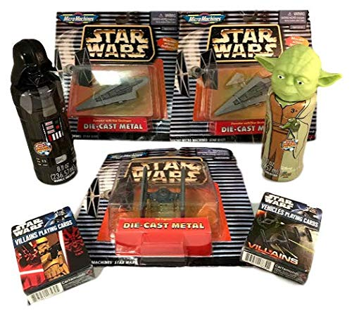 - Star Wars Micro Machines Die Cast Metal TIE Fighter Executor w/ Star Destroyer Movable Action Vehicles & Villains Playing Cards Packs 2 Super Miracle Bubbles Bundle