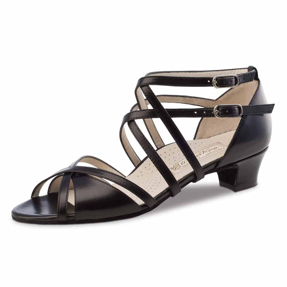 Werner Kern Mujeres Zapatos de Baile Eva 3,4 cm Cuero Negro