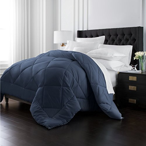 Park Hotel Collection Goose Down Alternative Comforter - All Season - Premium Quality Luxury Hypoallergenic Comforter - Navy - King/Cal King (Selling Top Comforter Sets)