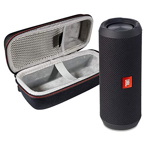 JBL Flip 3 Splashproof Portable Stereo Bluetooth Speaker with Protective Travel Case – Black (Renewed)