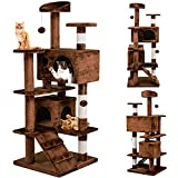 Yaheetech Cat Tree Scratcher Play House Condo Furniture for Kittens