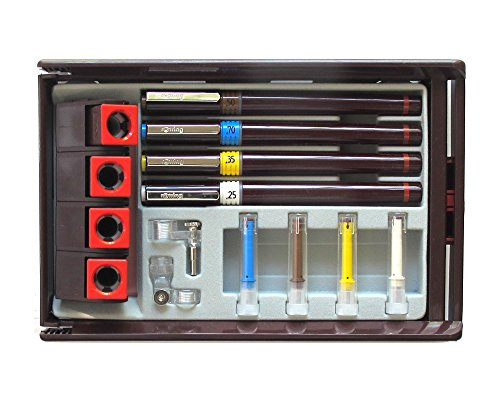 Rotring Rapidograph Set of 4 Technical Pens .25 .35 .5 .7 by Rotring