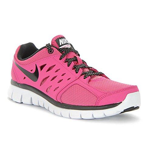 Nike Girls Flex 2013 Running Shoes-Vivid Pink/Black-White-4