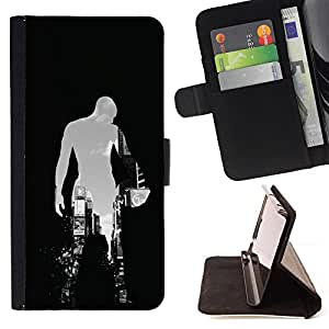 BASKETBALL CITY SILHOUETTE - Painting Art Smile Face Style Design PU Leather Flip Stand Case Cover FOR LG Nexus 5 D820 D821 @ The Smurfs