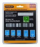 Stanley Tools TRA700BN 4 Pack 27/64in. Wide Heavy Duty Staple and Brad Assortments 2,500 Pieces/Box