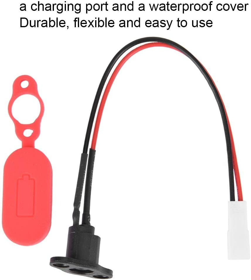 Prevent Deformation And Damage for M365 Electric Scooter Accessory Silicone Charging Port for M365 JULYKAI Battery Charger Connector Socket