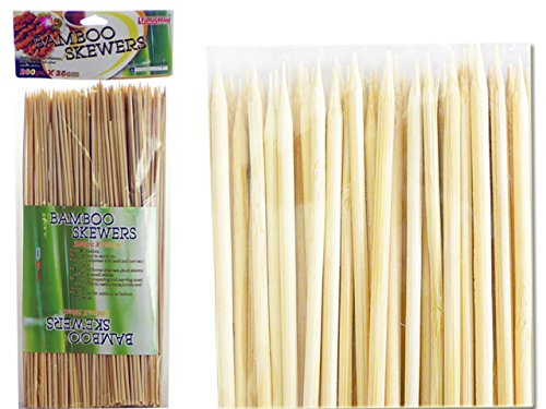 BAMBOO SKEWERS 200PC 31CM LONG , Case of 72 by DollarItemDirect