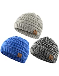14b49fc3108 Soft Warm Knitted Baby Hats Caps Cute Cozy Chunky Winter Infant Toddler Baby  Beanies Boys Girls