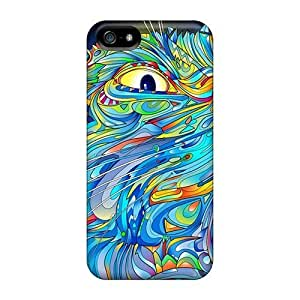 Excellent Iphone 5/5s Case Tpu Cover Back Skin Protector Colorful Cat