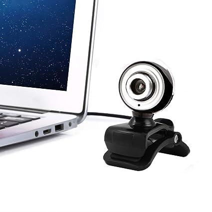 Cebbay Cámara Web HD 12 megapíxeles USB2.0 Mic Clip Adecuado para PC portátiles Compatible