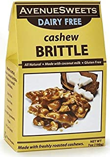 product image for AvenueSweets - Handcrafted Old Fashioned Dairy Free Vegan Nut Brittle - 7 oz Box - Cashew