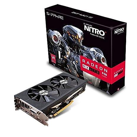 Sapphire Nitro+ RX470 8GB OC - Tarjeta gráfica de 8 GB (Radeon RX 470, 3840 x 2160p, 2-Way CrossFireX, GDDR5)
