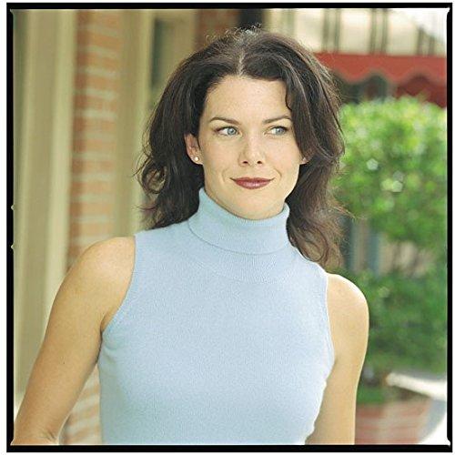 - Gilmore Girls 8 x 10 Photo Lauren Graham/Lorelai Gilmore Pale Blue Sleeveless Turtle Neck Gorgeous! kn