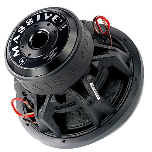 Massive Audio SUMMOXL124-12 Inch Car Audio 3000 Watt SUMMOXL Series Competition Subwoofer, Dual 4 Ohm, 2 Inch V.C