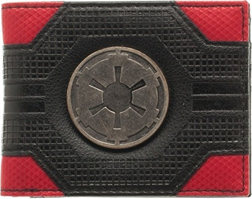 Star Wars Imperial Empire Emblem Logo Mix Material Bi-fold Gift Boxed Wallet