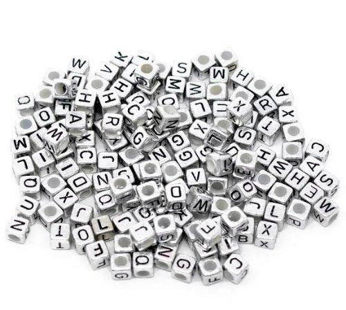 (Rockin Beads Brand, 450 Mixed Silver Tone Acrylic Alphabet /Letter