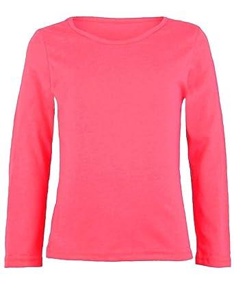 5bb063da3645 RageIT Kinder langärmlig einfarbig Einfaches Top Mädchen Jungen T-Shirt  Oberteile CREW UNIFORM T-Shirt Langarmshirts  Amazon.de  Bekleidung
