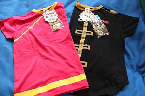 銀魂 神楽 沖田総悟 Tシャツ L 2枚セット レディース しまむら 缶バッジ計6個付き