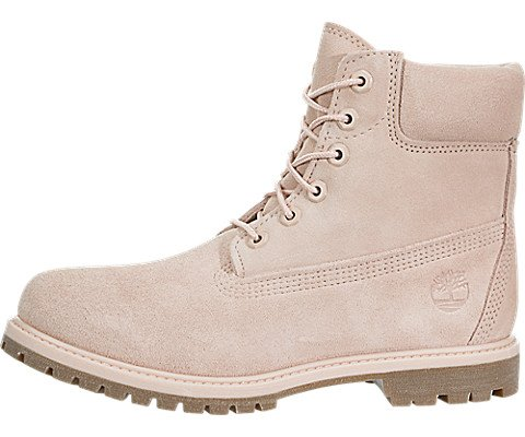 Timberland Womens 6 Inch Premium Suede Combat Boot, Light Pink/Cameo Rose, Size ()