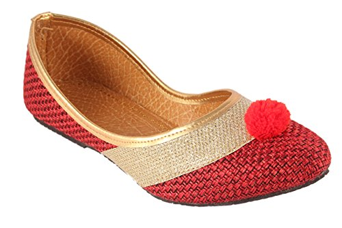Jaipuri Velvet - US Collection Velvet multicolored Embroidered Ethnic Rajasthani Jaipuri Slipper Juttis For Women and Girls-US-8(EU-39)