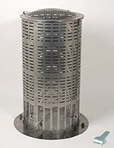 Extra Large 100% Stainless Steel Hi-Temp Burn Barrel - Includes Ash Catcher