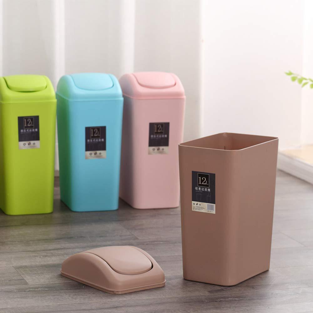 Ayanx Paper Bin, with Shaken Blanket for Bathroom, Living Room, Toilet-Black, Brown, Blue, Pink,Pink,8L