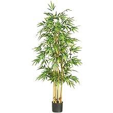 Nearly Natural 5253 Bamboo Silk Tree, 64-Inch, Green