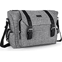 Amzbag Camera Bag SLR/DSLR Camera Shoulder Bag Case Include Shoulder Strap Removable Organizer Carrying Shoulder Bag for Four Sony Canon Nikon Olympus Pentax (Grey)