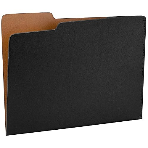 The CARLO File Folder BLACK/Tan Eco-Leather by Graphic Image - 8.5x11