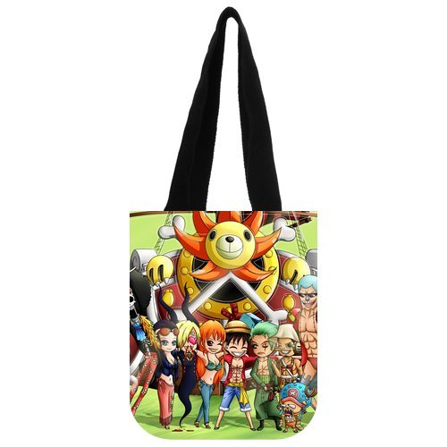 """The Story Of The Pirate Ship Role Collection Custom Carrying Shopping Grocery Tote Bag Multi Purpose Durable Material Handbag Bag 10.2"""" x 11.8"""" x 5.3"""" Twin Sides"""
