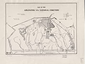 Amazon.com: 1901 Map of the Arlington, Va. National Cemetery - Size ...